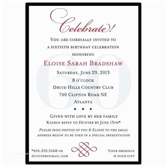 60th Birthday Invitation Wording Birthday Invitation Templates 60th Birthday Invitation