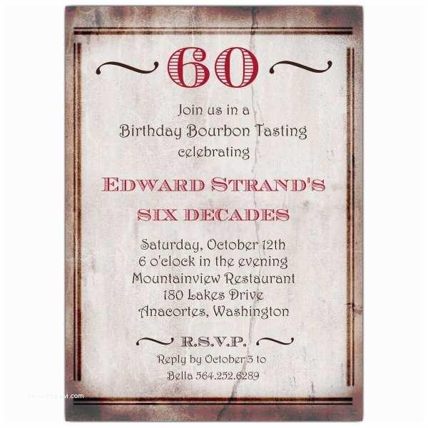 60th Birthday Invitation Wording Old World 60th Birthday Invitations