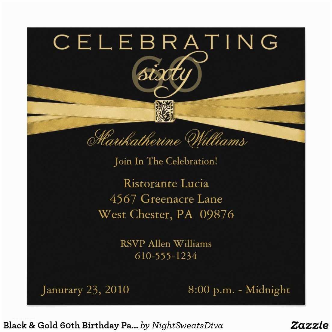 60th Birthday Invitation Wording Sample