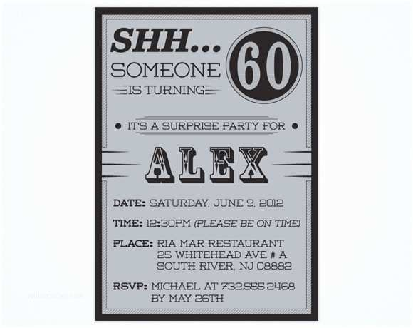 60th Birthday Invitation Wording Surprise Party Invitations