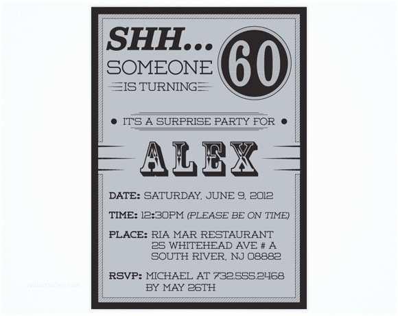 60th Birthday Invitation Wording Surprise 60th Birthday Party Invitations Wording