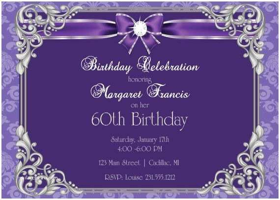 60th Birthday Invitations 60th Birthday Invitation • 60th Birthday Party Invitation