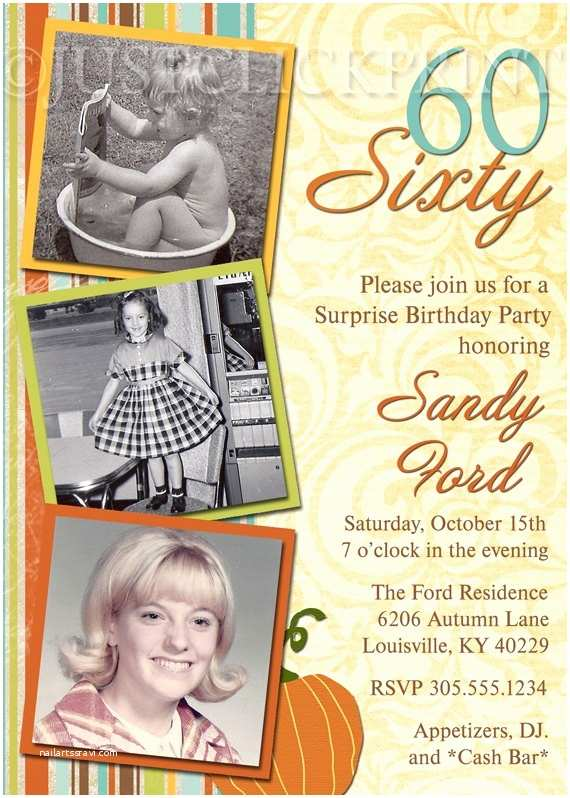 60th Birthday Invitations Pinterest Invitations 60th