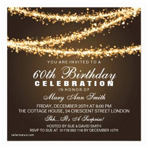60th Birthday Invitations Sixtieth Birthday Gifts T Shirts Art Posters & Other