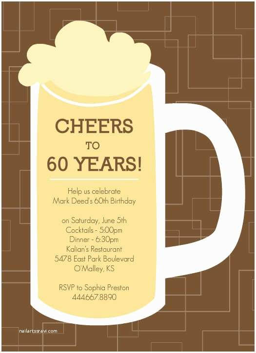 60th Birthday Party Invitations Template