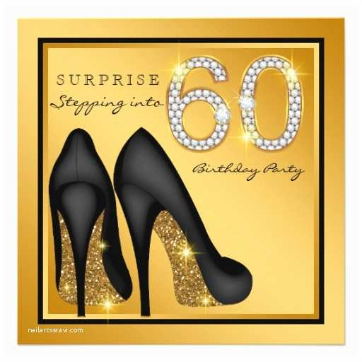 60th Birthday Party Invitations Womans Surprise 60th Birthday Party Custom Invite