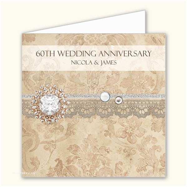 60th Wedding Anniversary Invitation Wording 60th Wedding Anniversary Invitations Vintage Damask