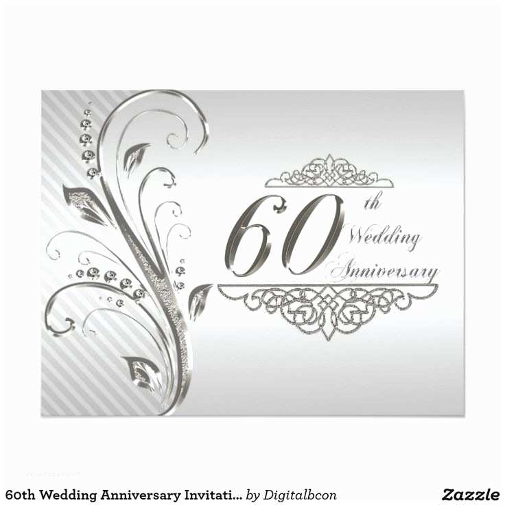 60th Wedding Anniversary Invitations 60th Wedding Anniversary Invitation Card