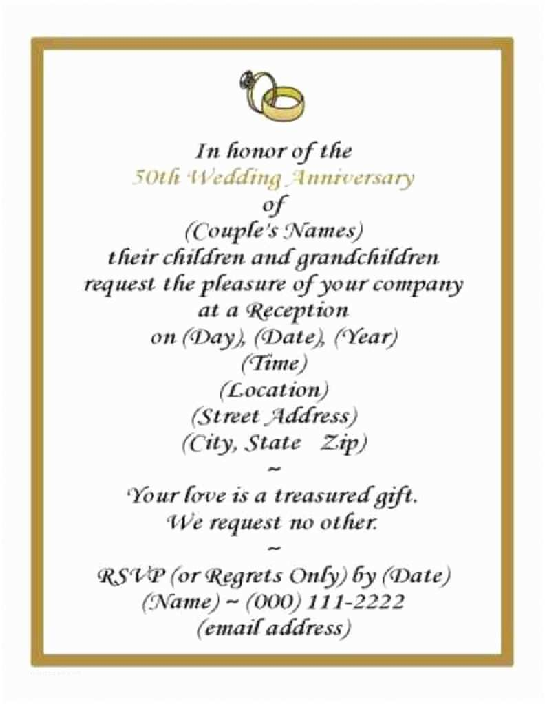 60th Wedding Anniversary Invitations Free Templates 50th