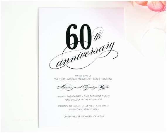 60th Wedding Anniversary Invitations Free Templates 60th Anniversary Invitations Template