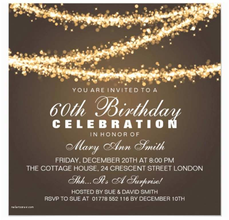 60th Wedding Anniversary Invitations Free Templates 60th Birthday Invitation Card Template Free Download