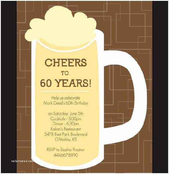 60th Wedding Anniversary Invitations Free Templates 60th Birthday Invitation Template A Birthday Cake