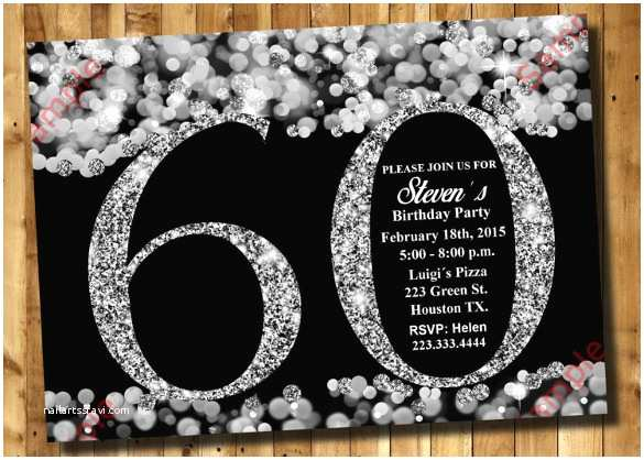 60th Wedding Anniversary Invitations Free Templates 60th Birthday Invitation Templates – 24 Free Psd Vector