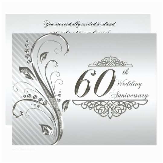 60th Wedding Anniversary Invitations Free Templates 60th Wedding Anniversary Invitation Card