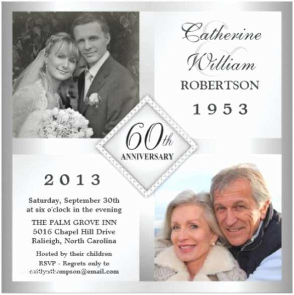 60th Wedding Anniversary Invitations Free Templates 60th Wedding Anniversary Invitations – Gangcraft