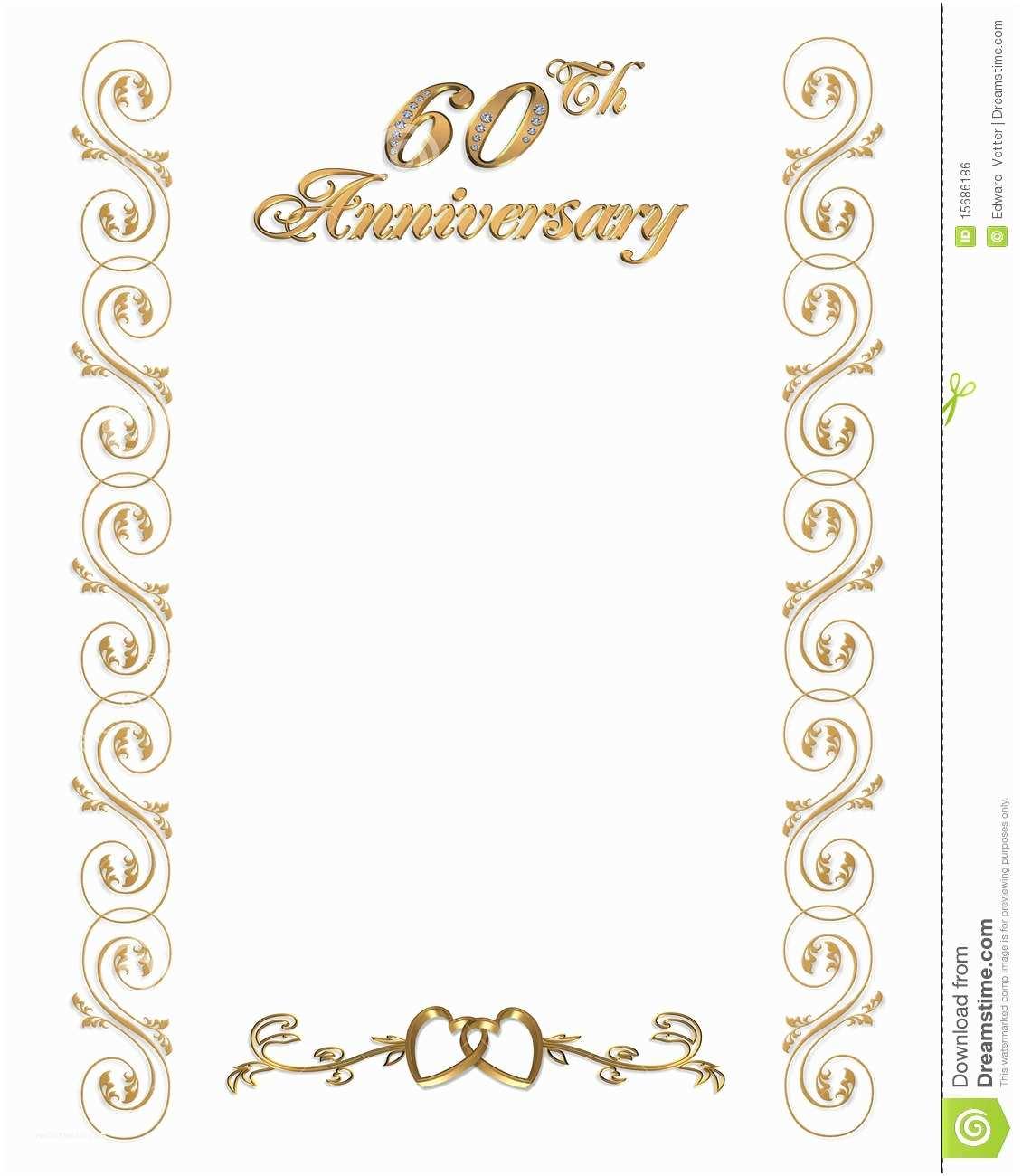 60th Wedding Anniversary Invitations Free Templates 60th Wedding Anniversary Invitations Template