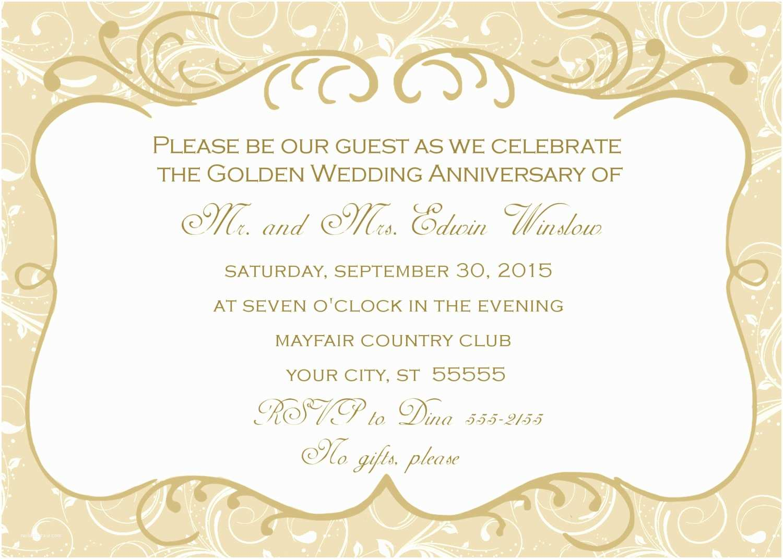 60th Wedding Anniversary Invitations Free Templates Invitation Cards for 60th Wedding Anniversary Image