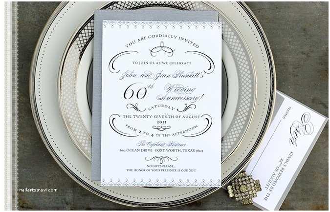 60th Wedding Anniversary Invitations Happy Wedding Anniversary Quotes Cards Decorations Invitations