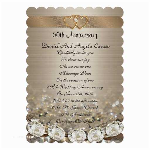 60th Wedding Anniversary Invitations Wedding Invitation Wording 60th Wedding Anniversary