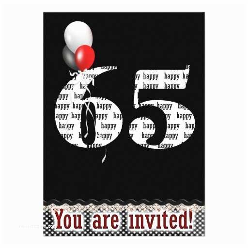 65th Birthday Invitations 65th Birthday Invitation