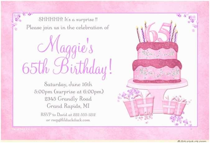 65th Birthday Invitations 65th Birthday Invitations