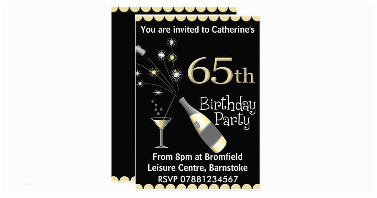 65th Birthday Invitations 65th Birthday Party Invitation