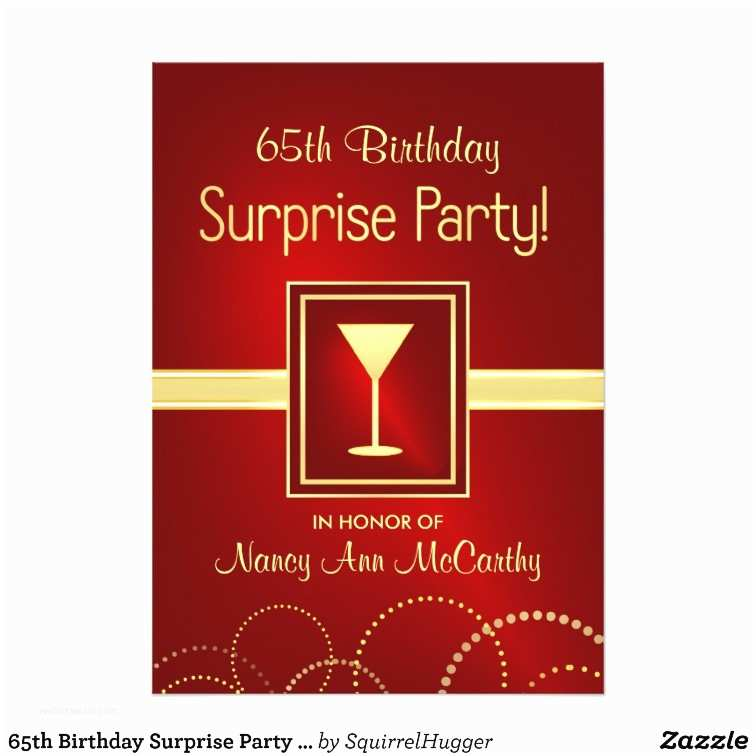 65th Birthday Invitations 65th Birthday Surprise Party Invitations