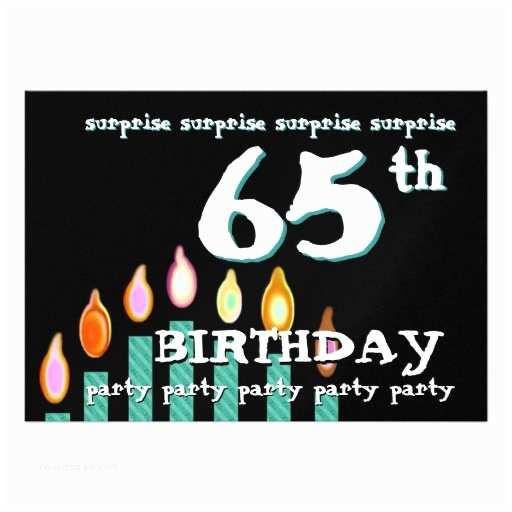 65th Birthday Invitations 65th Surprise Birthday Party Invitation Template 13 Cm X