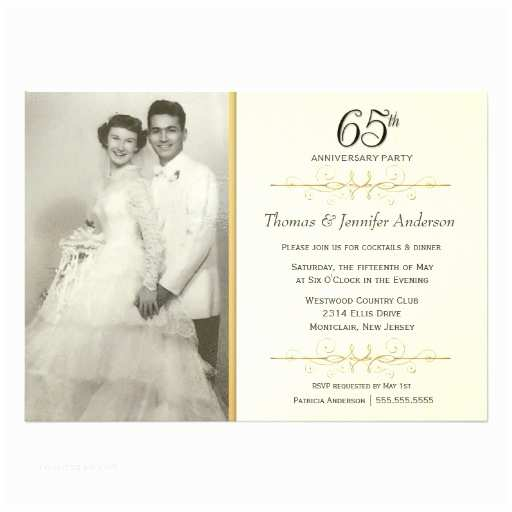 65th Birthday Invitations 65th Wedding Anniversary Party Invitations