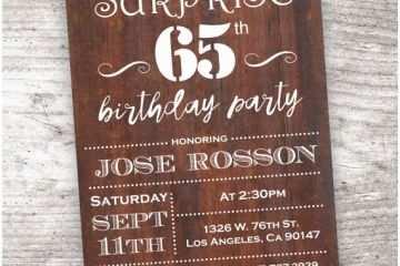 65th Birthday Invitations For