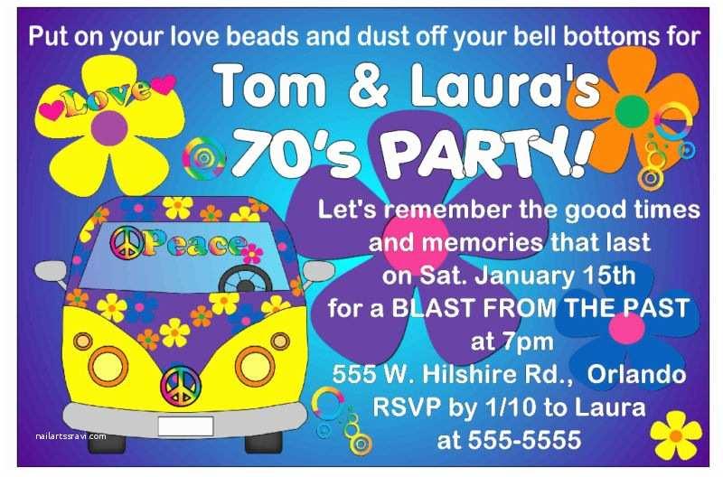 70s Party Invitations 70 Birthday Invitations Templates – Bagvania Free
