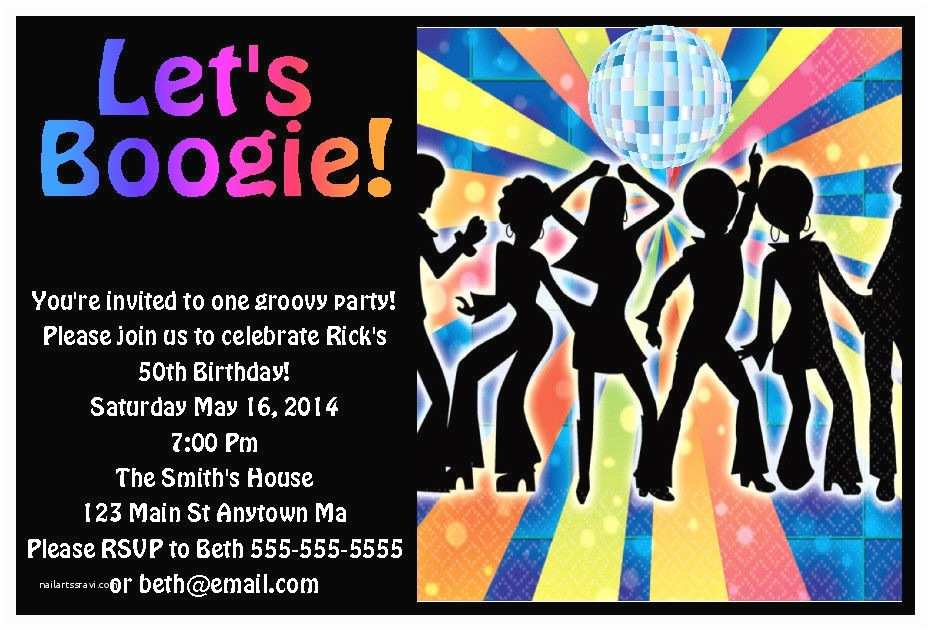 70s Party Invitations 70s Disco Dance Adult Kid Teen Digital Birthday Party