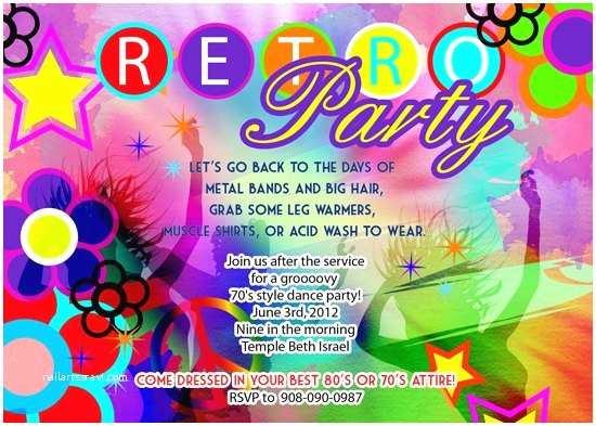 70s Party Invitations 70s Disco Party Invitations