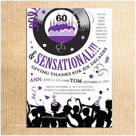 70s Party Invitations 70s Party Birthday Invitations Retro by Razzledazzledesign