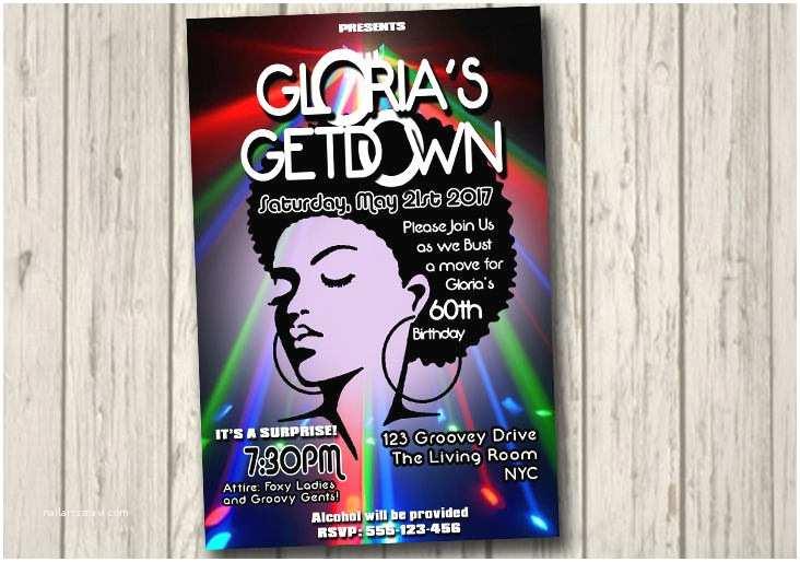 70s Party Invitations 70s soul Train Disco Dance Party Invitation 60 S 70 S