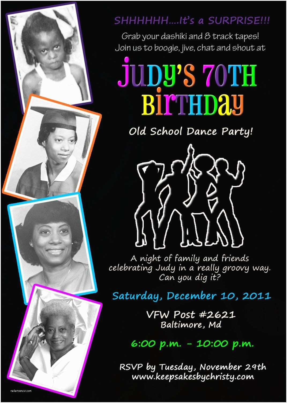 70s Party Invitations Custom Birthday Invitation Musical themed Disco 70 S