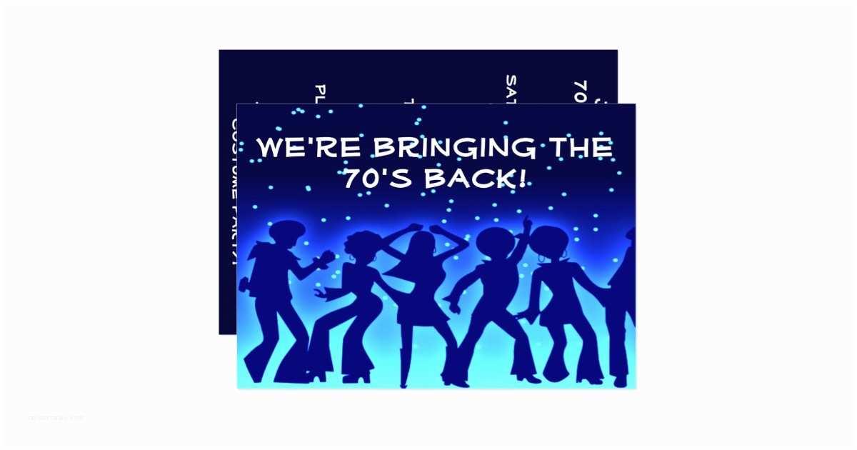 70s Party Invitations Disco theme 70 S Party Invitations