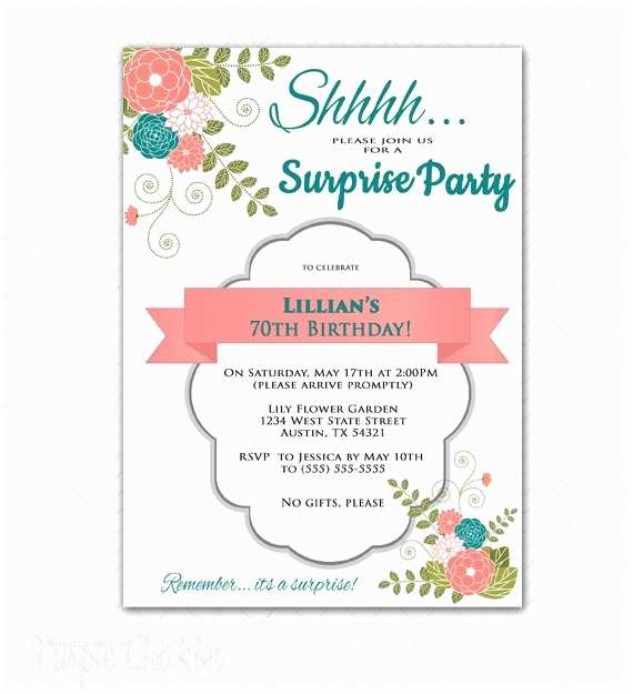 70th Birthday Invitations 70th Birthday Invitations Free Printable