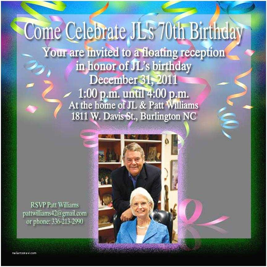 70th Birthday Invitations 70th Birthday Invitations