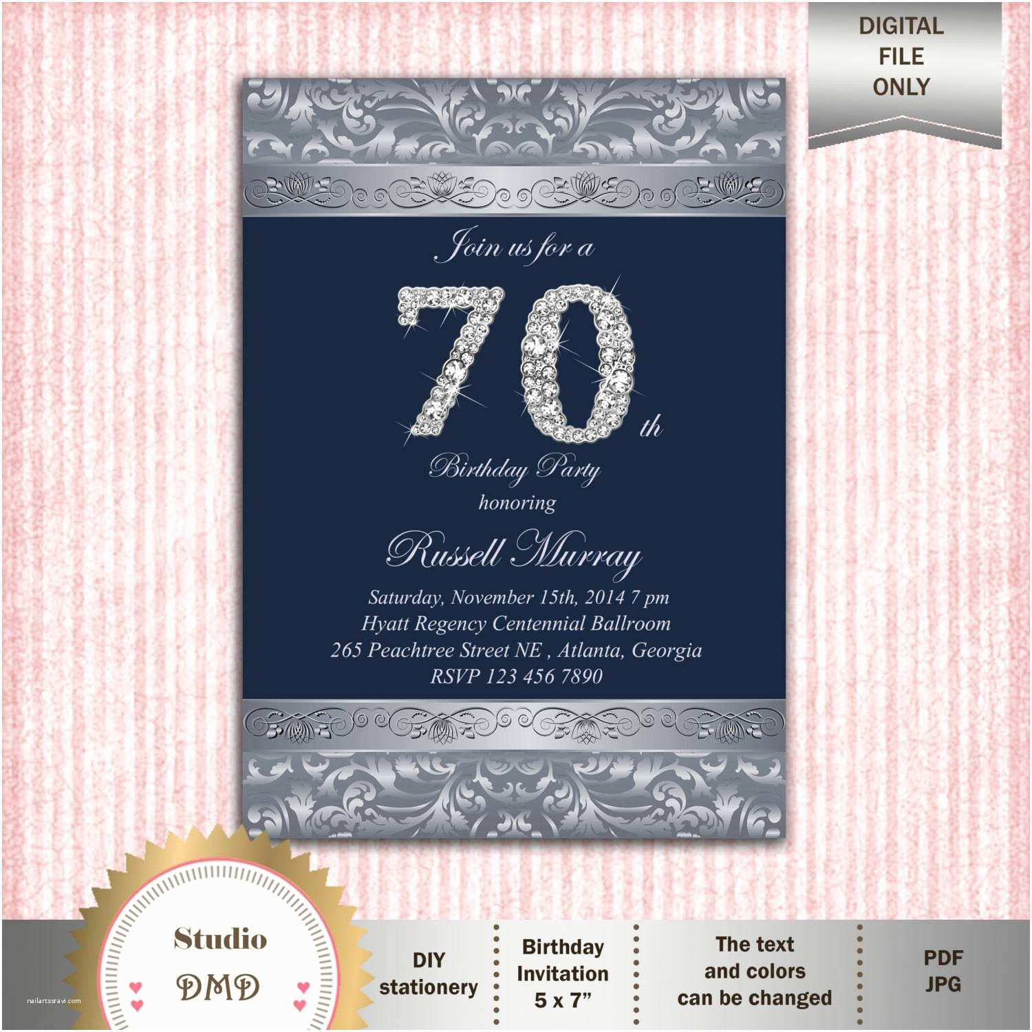 70th Birthday Invitations Party
