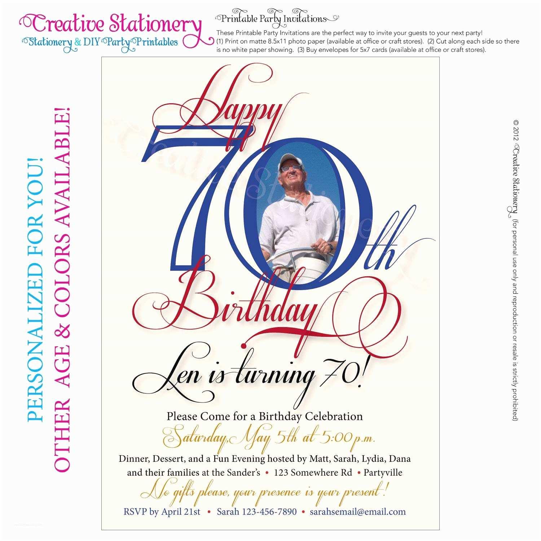 70th Birthday Invitations 70th Birthday Party Invitations
