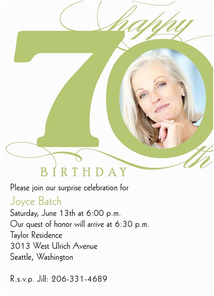70th Birthday Party Invitations 15 70th Birthday Invitations Design and theme Ideas