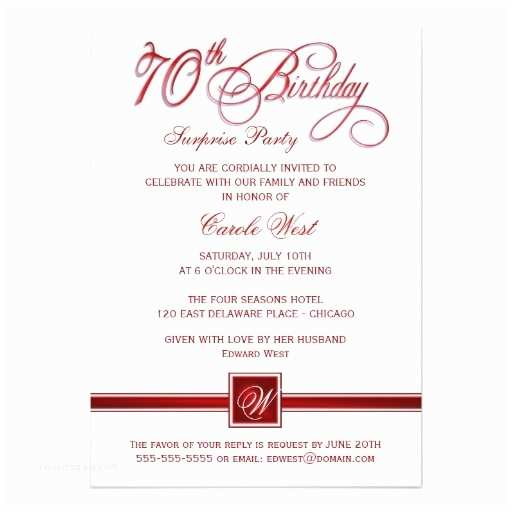 70th Birthday Party Invitations 17 Best Images About Birthday Invites On Pinterest