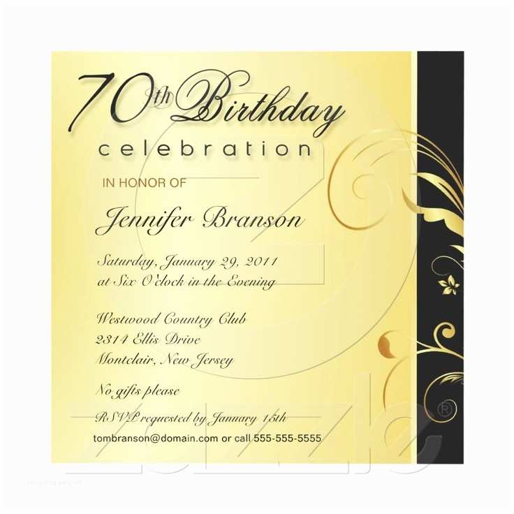 70th Birthday Party Invitations 63 Best 70th Birthday Party Images On Pinterest