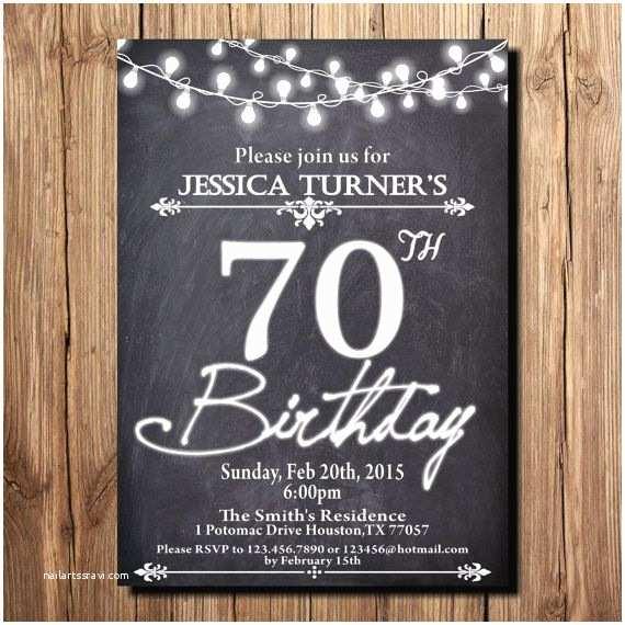 70th Birthday Party Invitations 70th Birthday Invitations Wording