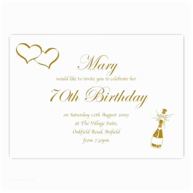 70th Birthday Party Invitations Invitation Birthdays