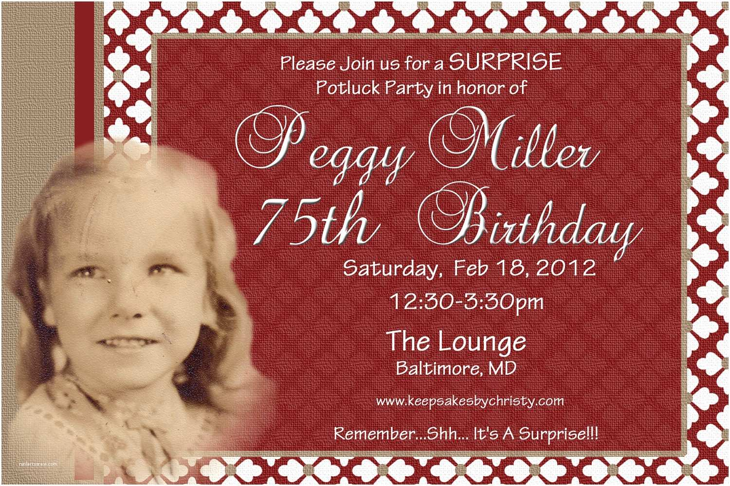70th Birthday Party Invitations Free Invitation Templates