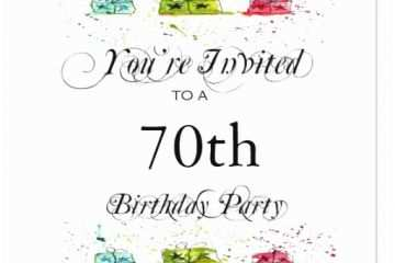 70th Birthday Party Invitations Personalized