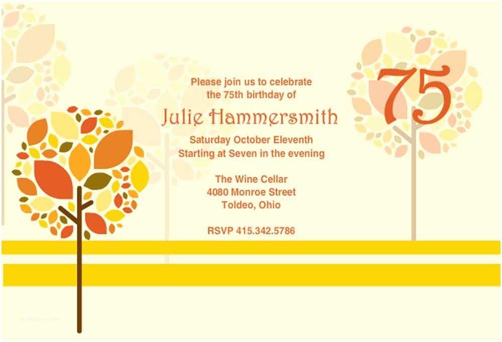 75th Birthday Invitations 16 75th Birthday Invitations Unique