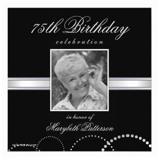75th Birthday Invitations 17 Best Images About Black and Silver Party On Pinterest